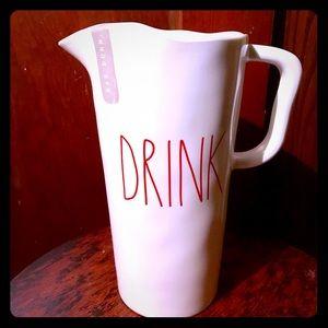 Rae Dunn Melamine DRINK Pitcher